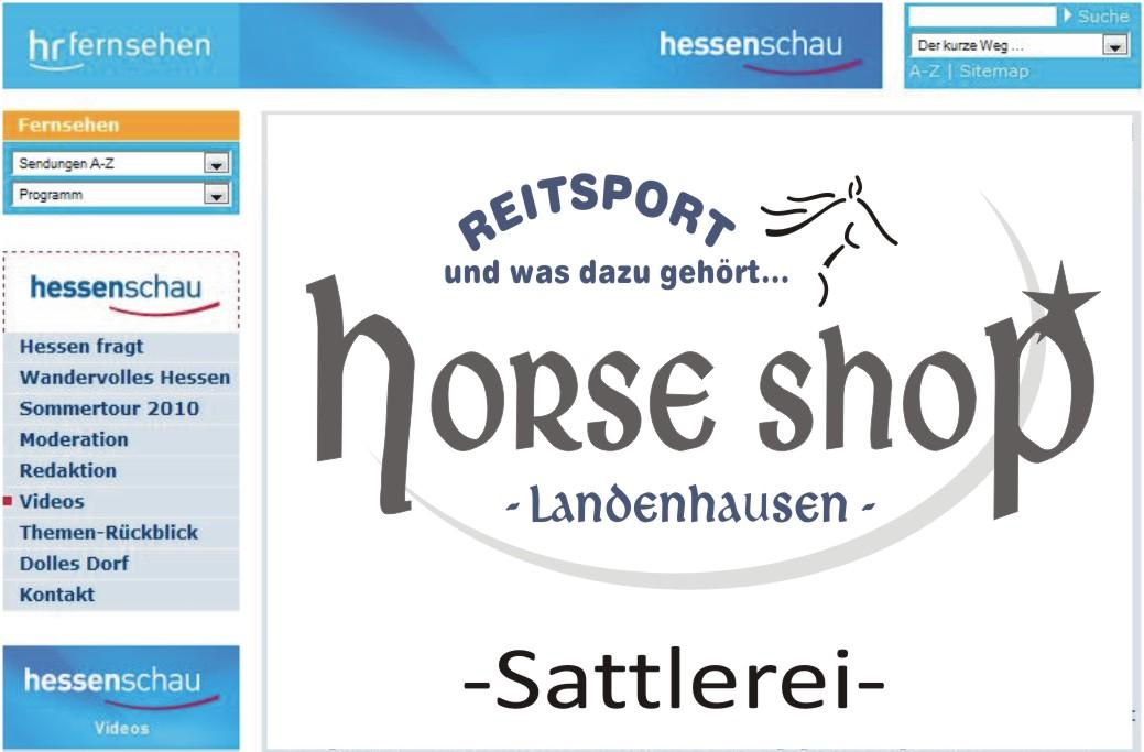 Sattler des Horse Shop Landenhausen in der Hessenschau