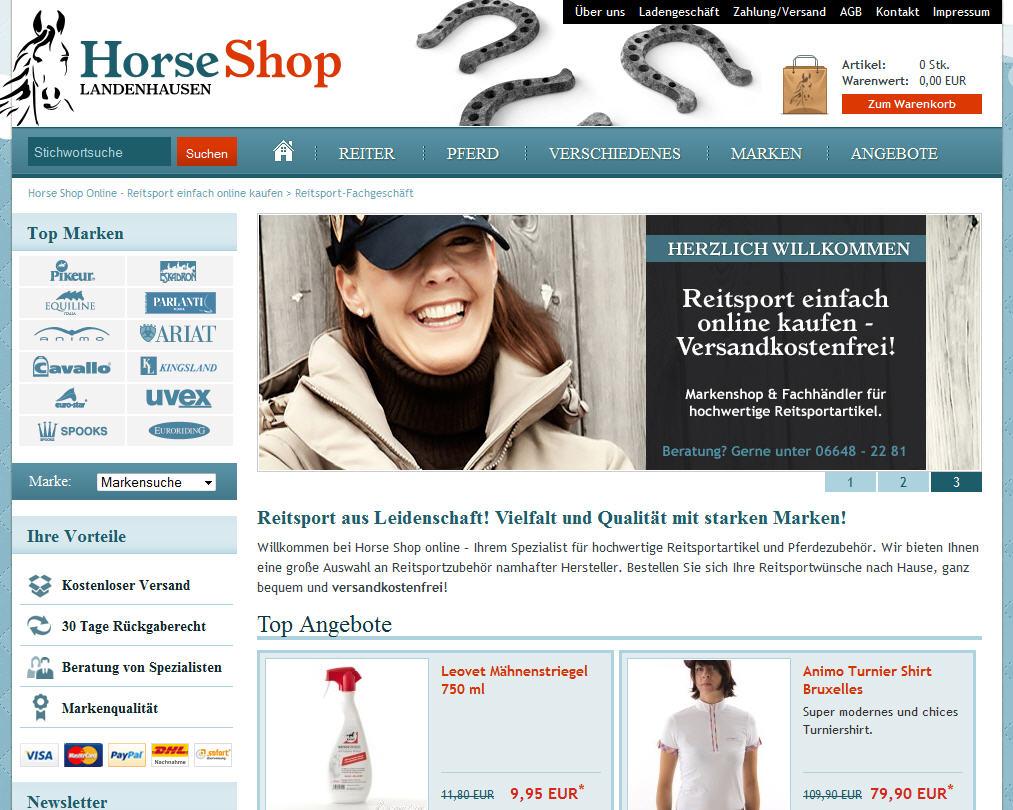 Horse Shop Landenhausen nun 24/7 geöffnet