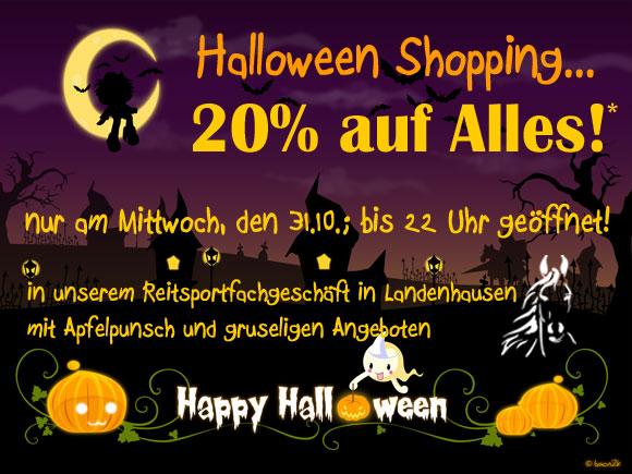 Halloween Shopping am 31.10. mit 20%